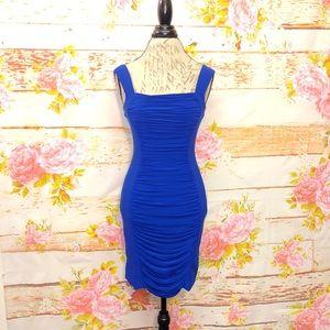 Caché Gathered Mini Dress